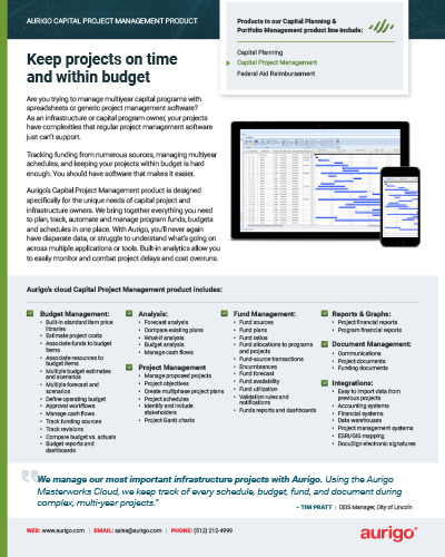 Capital Project Management datasheet