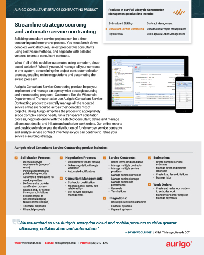 Consultant Service Contracting datasheet