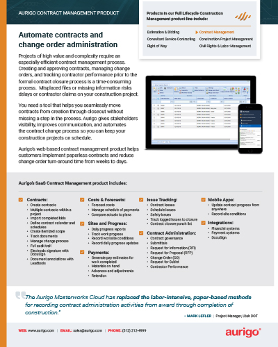 Contract Management datasheet